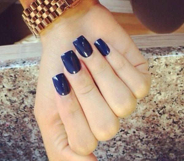 Navy Acrylic Nails Expression Nails