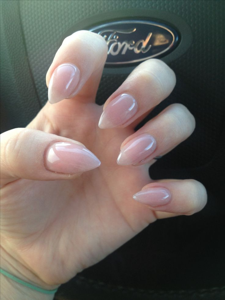 new style long pointed acrylic nails photo - 1
