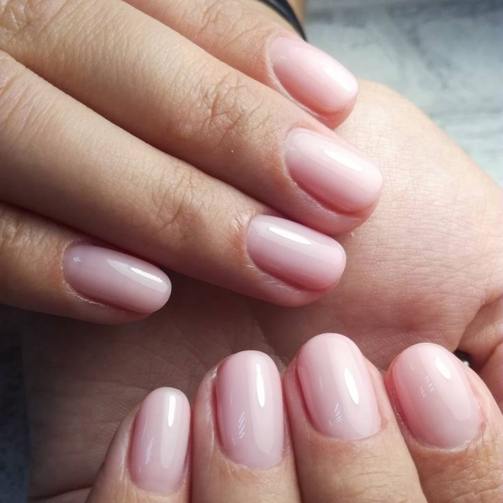 Nude acrylic nails - Expression Nails