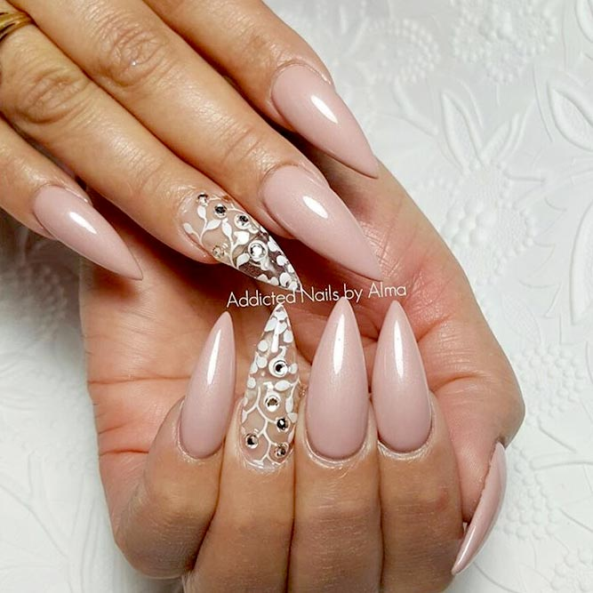 nude color gel nails photo - 1