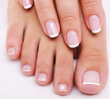 nude french base gel nails photo - 2