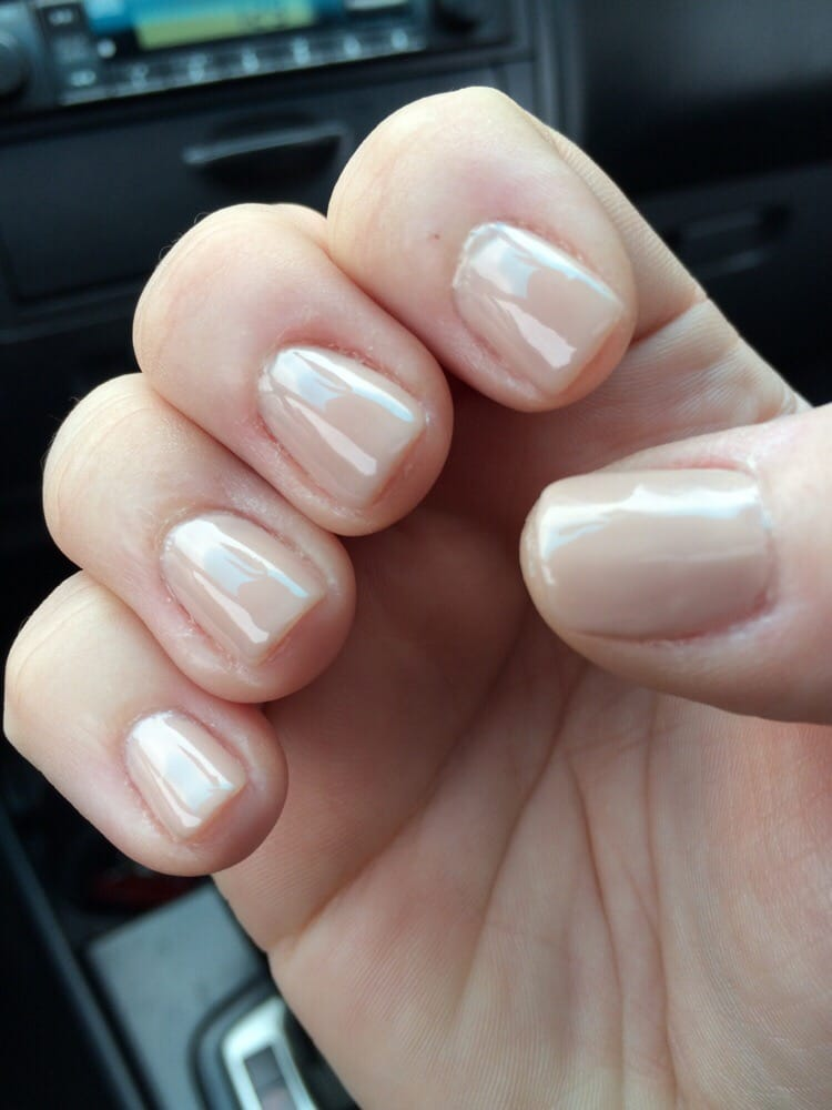 nude gel nails short photo - 1