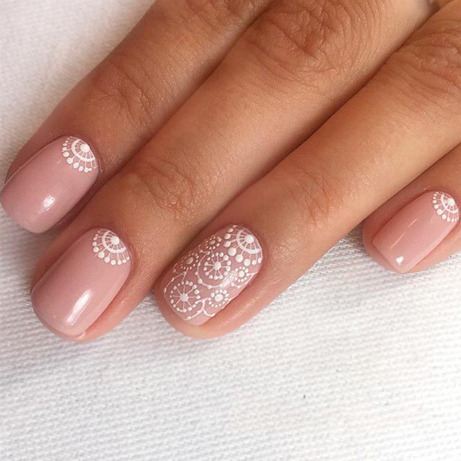 nude gel nails short photo - 2