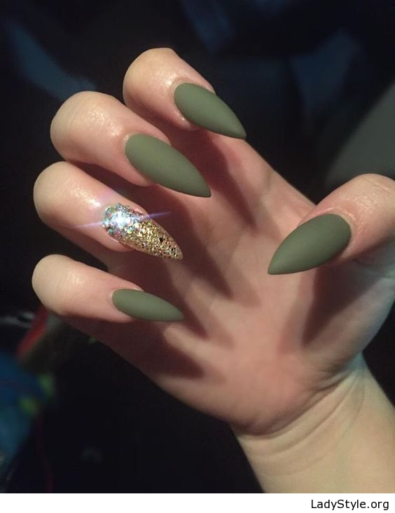 Olive Green Gel Nails New Expression Nails