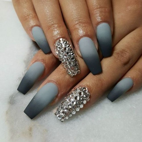 Ombre french acrylic nails - Expression Nails