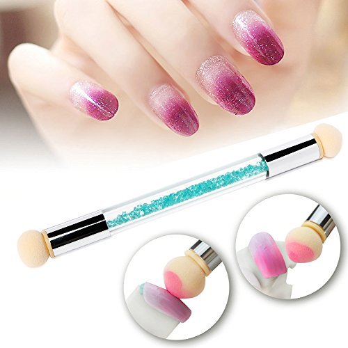 ombre gel nails with sponge photo - 1