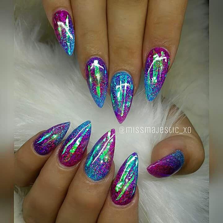 ombre short stiletto nails photo - 2