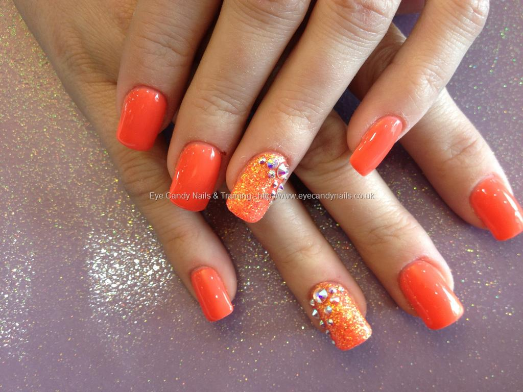 orange gel nails photo - 1