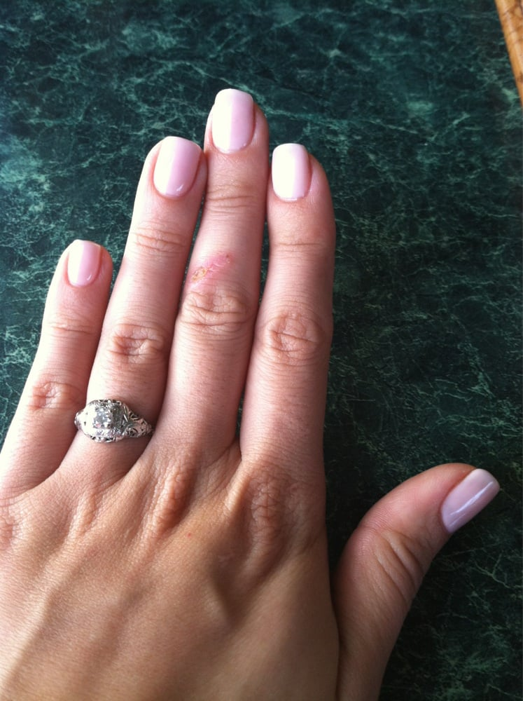 Pale pink gel nails - Expression Nails