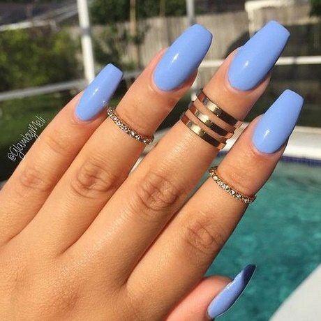 Pastel Blue Acrylic Nails Coffin New Expression Nails