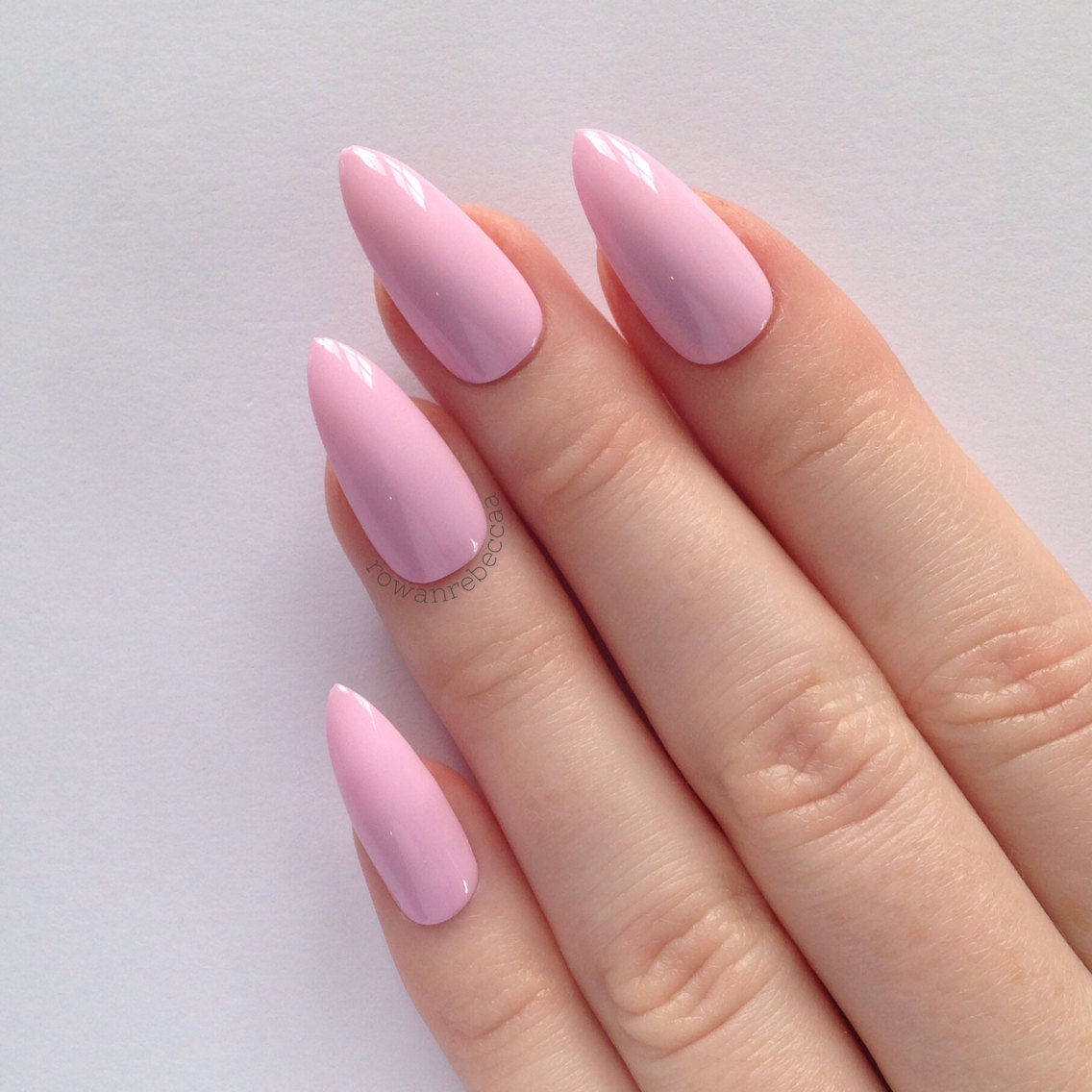 pastel pink stiletto nails photo - 1