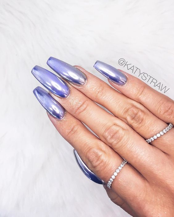 pastel purple acrylic nails coffin photo - 1