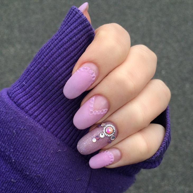 pastel purple acrylic nails coffin photo - 2