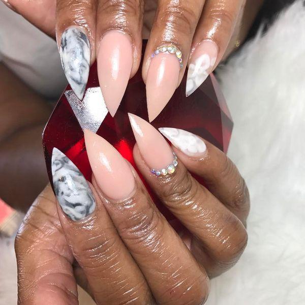 pastel stiletto nails photo - 1