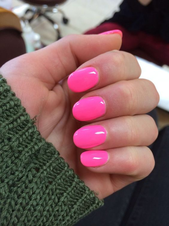 pink and green acrylic nails photo - 1