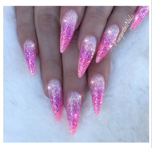 pink and purple acrylic nails photo - 2