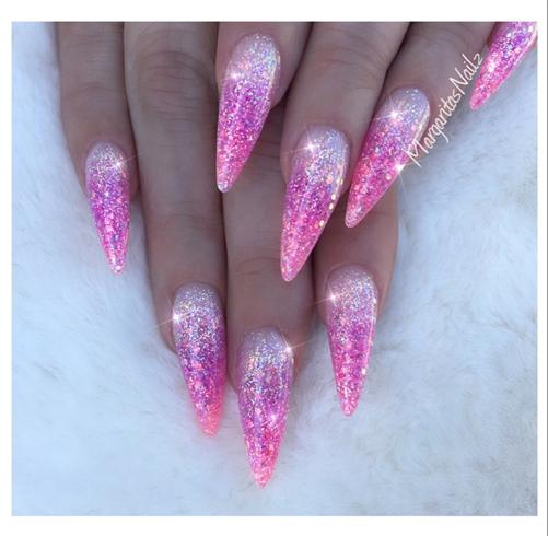 pink and purple acrylic nails photo - 2