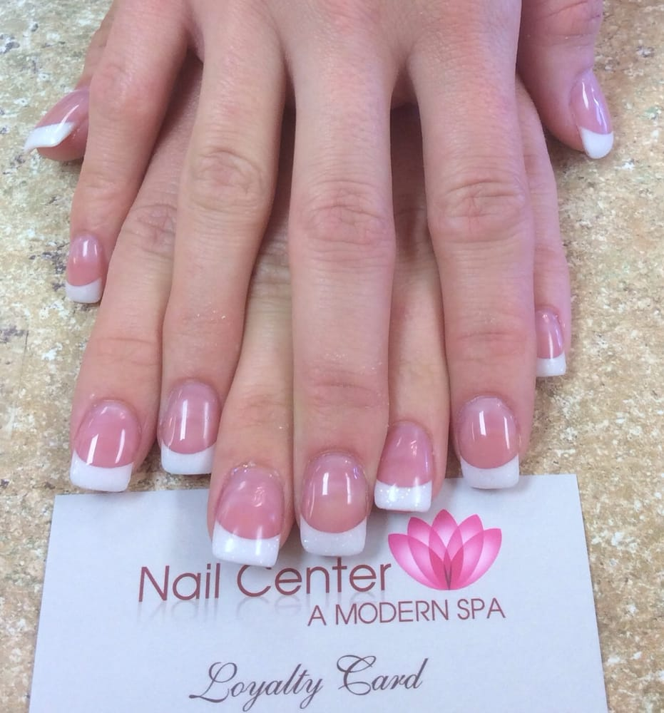 Pink and white gel nails near me - New Expression Nails