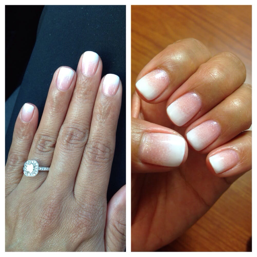 Pink And White Ombre Gel Nails New Expression Nails
