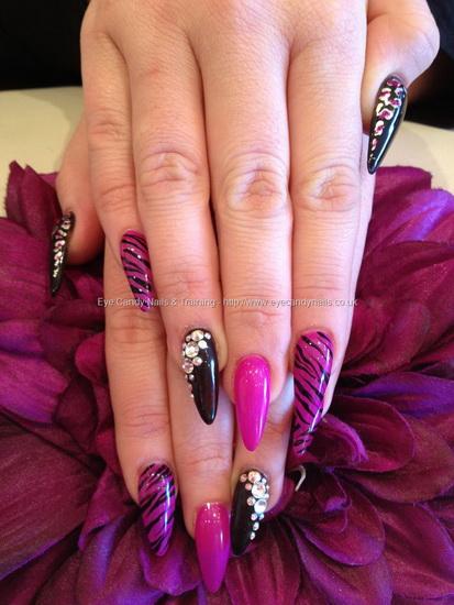 pink and white stiletto nails photo - 1