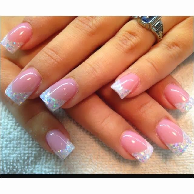 Pink christmas acrylic nails - New Expression Nails