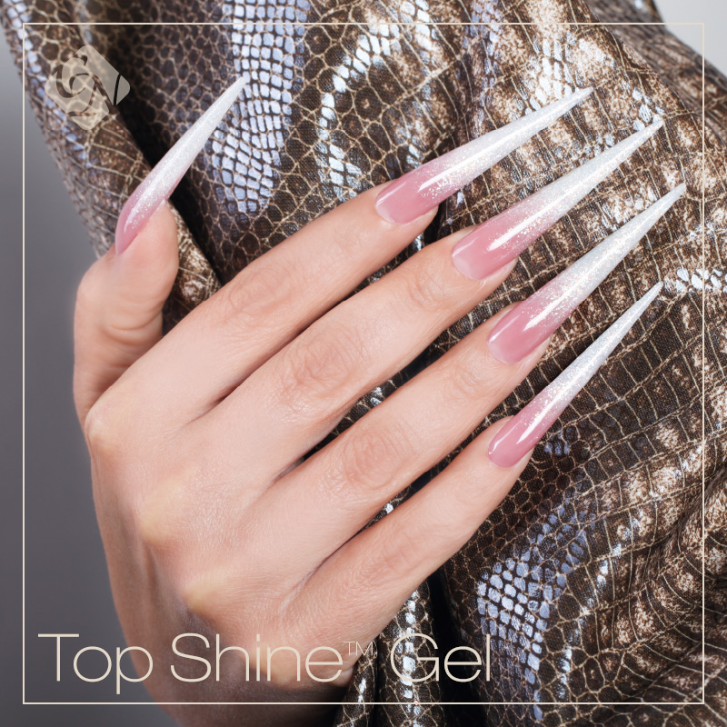 Pink clear acrylic nails - Expression Nails
