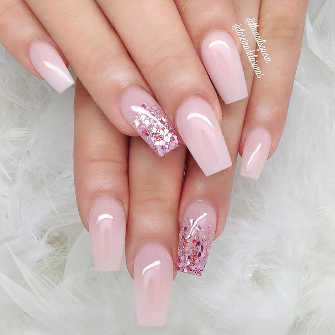pink nude coffin nails photo - 1