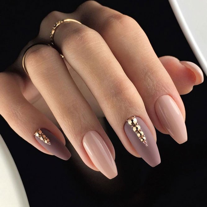 Pink tip acrylic nails stiletto , New Expression Nails