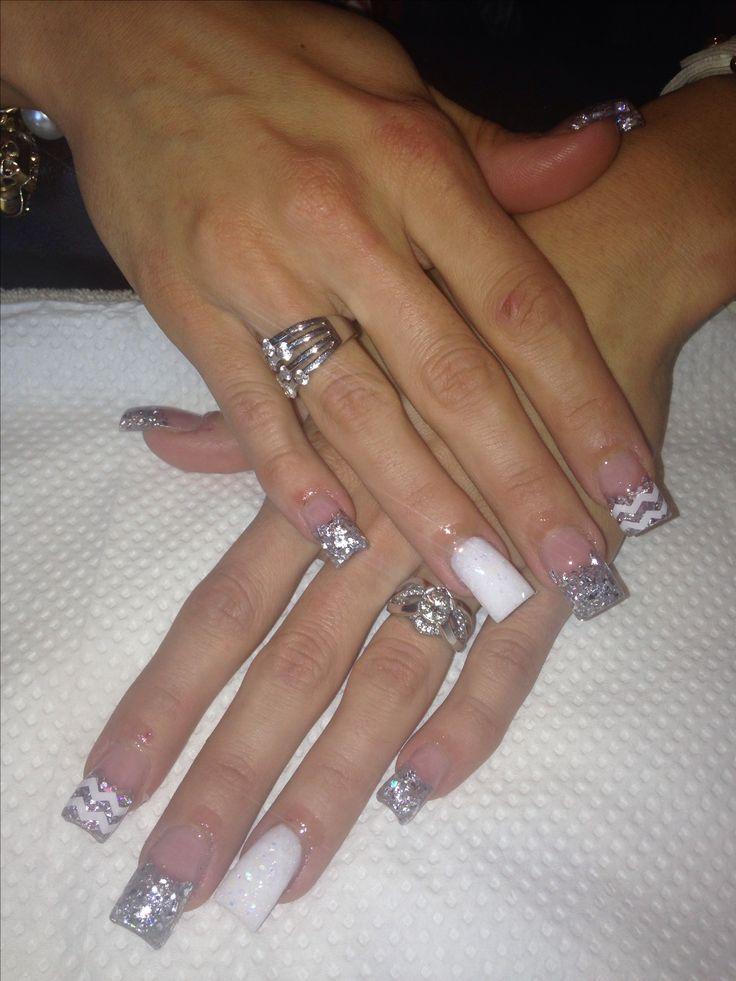 pinterest glitter acrylic nails photo - 2