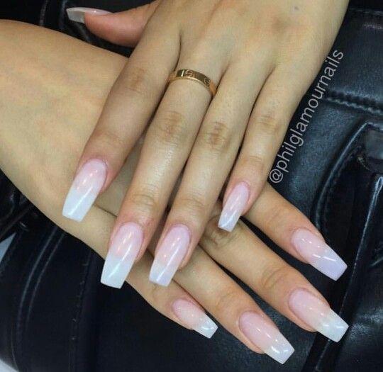 plain acrylic nails photo - 1