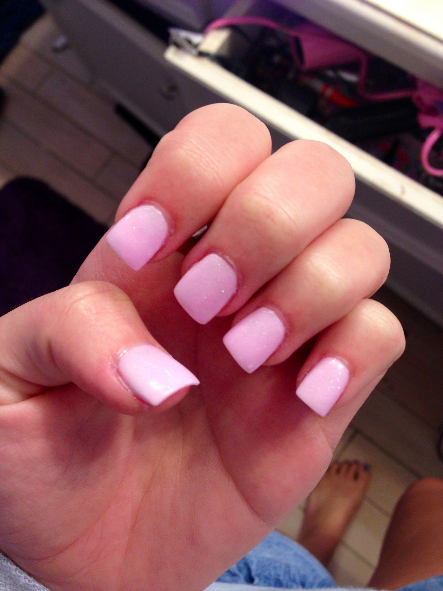 plain acrylic nails photo - 2
