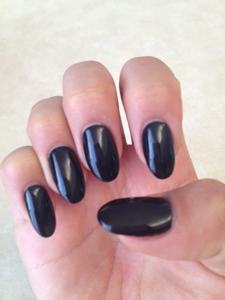 pointed gel nails photo - 1