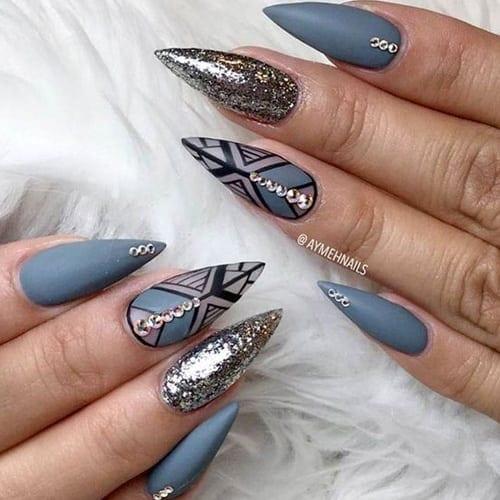 pointed stiletto nails photo - 2