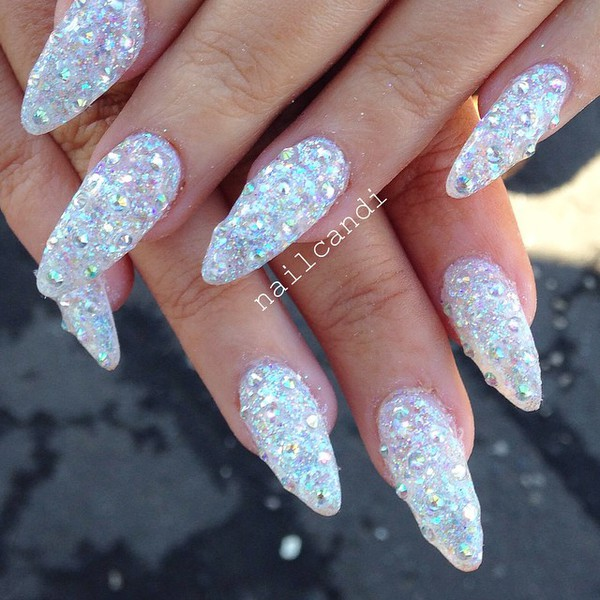 Pointy acrylic nails - Expression Nails