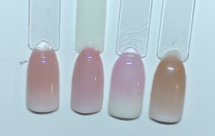 powder acrylic nails french manicure photo - 2
