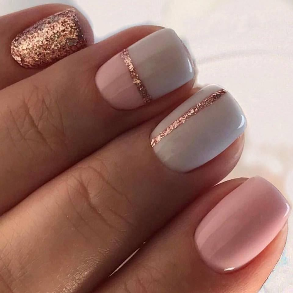 pretty gel nails for fall photo - 2