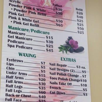 Price of acrylic nails at a salon - Expression Nails