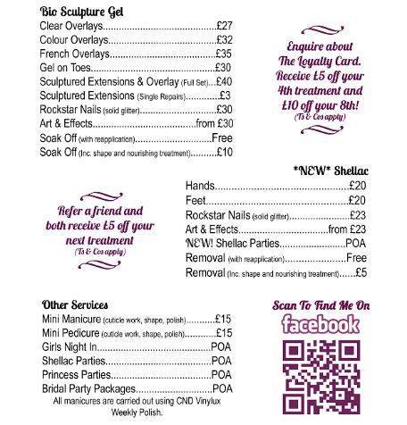 Prices for gel nails - Expression Nails
