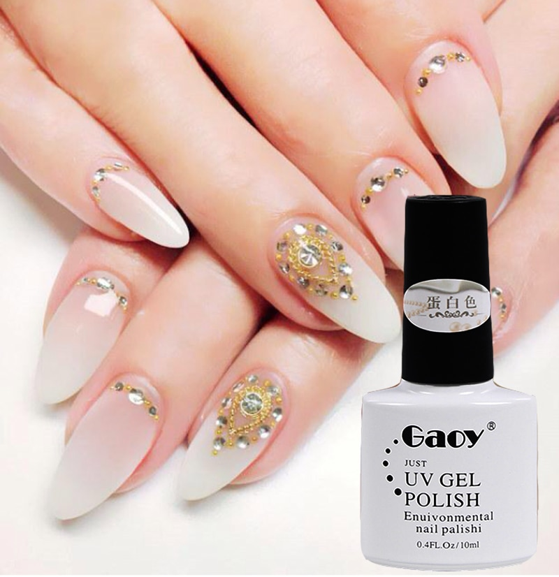 protein adhesive gel nails photo - 2
