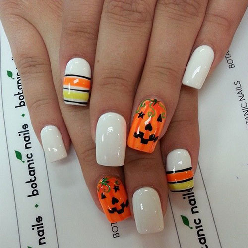 pumpkin nail designs color acrylic nails photo - 1