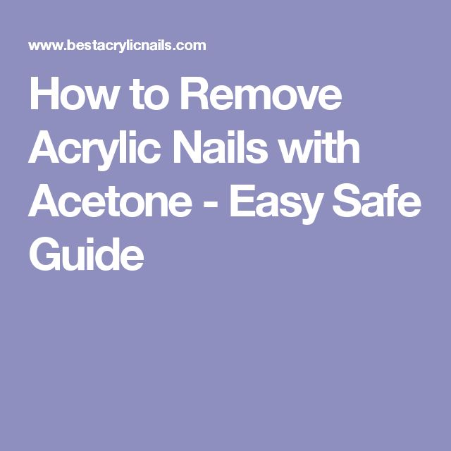 quick way to remove acrylic nails at home photo - 2