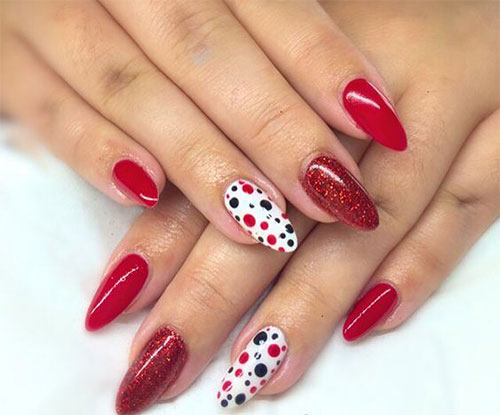 red and black gel nails photo - 1
