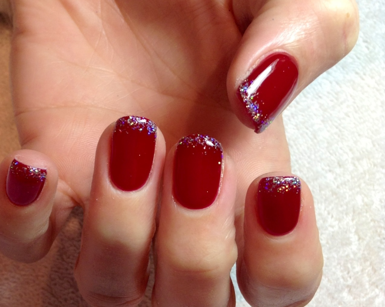 Red Gel Nails Photo 1