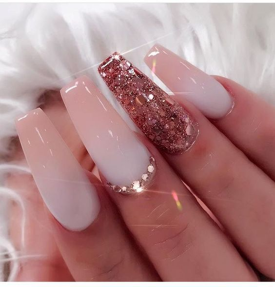 Red Glitter Acrylic Nails Expression Nails
