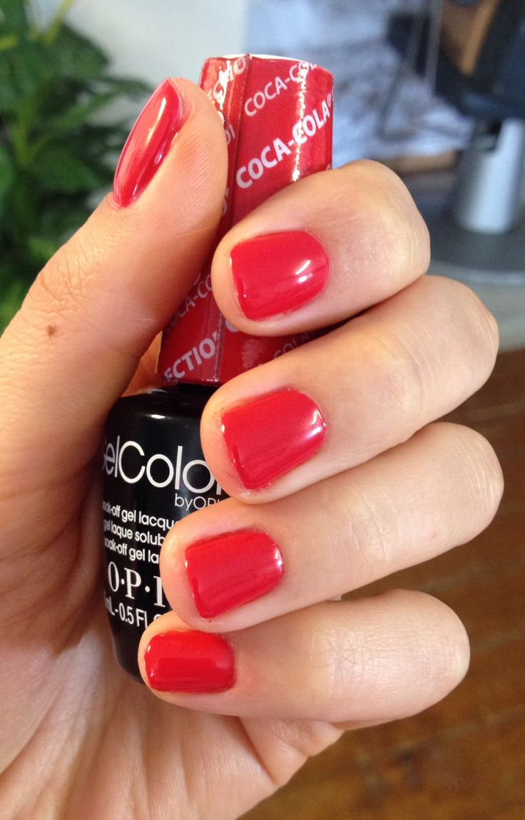 Red Nails Gel New Expression Nails