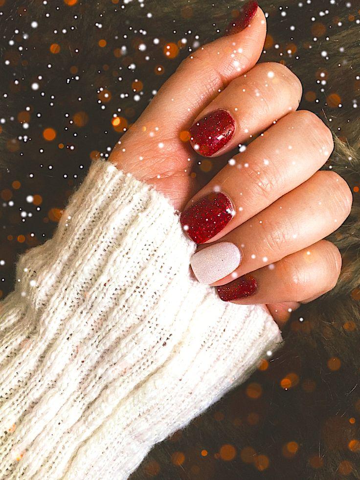 red powder acrylic nails photo - 1