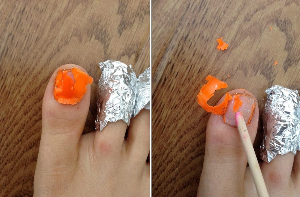 removing gel polish from acrylic nails photo - 2