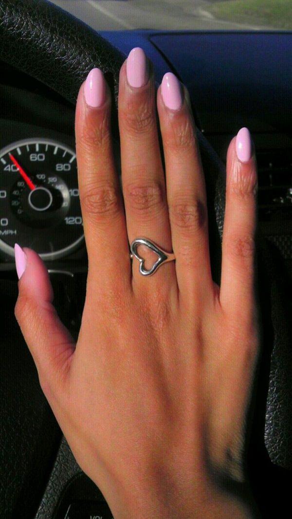 rounded stiletto nails photo - 2