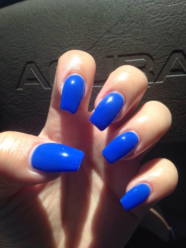 royal blue coffin nails photo - 1