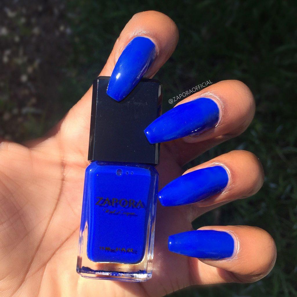 royal blue coffin nails photo - 2